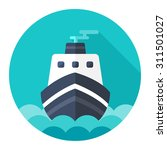 ship icon | Shutterstock .eps vector #311501027