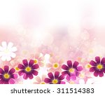 cosmoses background | Shutterstock .eps vector #311514383