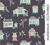 set of hand drawn houses.... | Shutterstock .eps vector #311514863