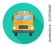 school bus icon   Shutterstock .eps vector #311516663