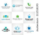 set of dental logos. vector... | Shutterstock .eps vector #311518193