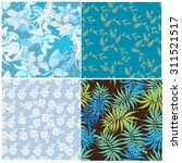 floral seamless pattern set  ... | Shutterstock .eps vector #311521517