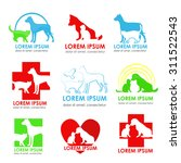 a set of logos for veterinary... | Shutterstock .eps vector #311522543
