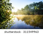 Fog On The Morning River In...
