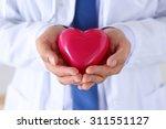 male medicine doctor hands... | Shutterstock . vector #311551127