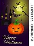happy halloween poster. vector... | Shutterstock .eps vector #311553557