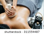 thai massage series   back and... | Shutterstock . vector #311554487