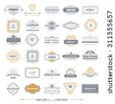 retro vintage labels insignias... | Shutterstock .eps vector #311555657