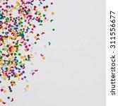 colorful celebration confetti...   Shutterstock . vector #311556677