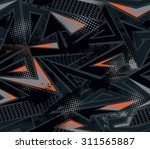 abstract seamless geometric... | Shutterstock .eps vector #311565887