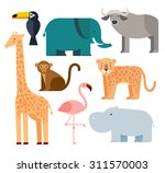 Jungle Animals Icons Set ...