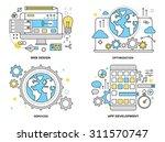 flat line illustration set of... | Shutterstock .eps vector #311570747