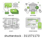 Flat Line Illustration Set Of...