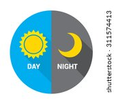 sun and moon in sky  day and... | Shutterstock .eps vector #311574413