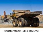 Mining Scene. Large Truck...