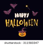 happy halloween poster template ... | Shutterstock .eps vector #311583347