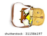 Top View Of Men Bag With...