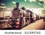 Old Steam Locomotive  Vintage...