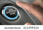 finger about to press a... | Shutterstock . vector #311599523