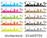 nativity stylized stripes of... | Shutterstock .eps vector #311605703