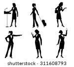 vector illustration of a six... | Shutterstock .eps vector #311608793
