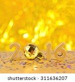 2016 year golden figures on a...   Shutterstock . vector #311636207