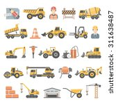 flat icons   construction