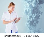 doctor conducts research and... | Shutterstock . vector #311646527
