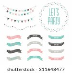 set of celebration retro... | Shutterstock .eps vector #311648477