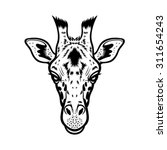 Giraffe Head Vector Graphic...