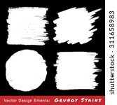 set of white hand drawn grunge... | Shutterstock .eps vector #311658983