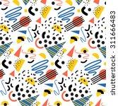 seamless geometric pattern in... | Shutterstock .eps vector #311666483