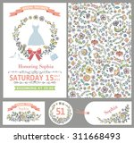 wedding design template set... | Shutterstock .eps vector #311668493