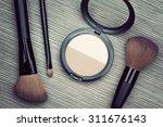 a bunch of cosmetics  set of... | Shutterstock . vector #311676143