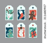 christmas labels | Shutterstock .eps vector #311680907
