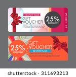 gift voucher template. | Shutterstock .eps vector #311693213