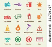 emergency elements  vector... | Shutterstock .eps vector #311706017