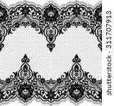 seamless lace pattern  flower... | Shutterstock .eps vector #311707913