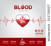 blood donation vector concept   ... | Shutterstock .eps vector #311720327