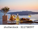 romantic dinner for two at... | Shutterstock . vector #311738597