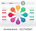 web template for circle diagram ...   Shutterstock .eps vector #311743367