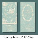 vintage card or wedding... | Shutterstock .eps vector #311779967