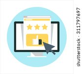 website review theme  flat... | Shutterstock .eps vector #311797697