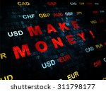 finance concept  pixelated red... | Shutterstock . vector #311798177