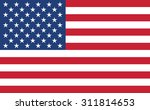 american flag. vector design. | Shutterstock .eps vector #311814653