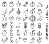 fruit and vegetable icons... | Shutterstock .eps vector #311820767