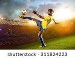 black skin african soccer... | Shutterstock . vector #311824223