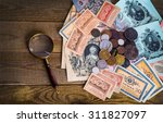 old russian money and medals. | Shutterstock . vector #311827097