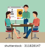 work office design  vector... | Shutterstock .eps vector #311828147
