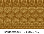 cement gold crafts wall in the...   Shutterstock . vector #311828717